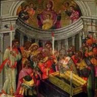 Эммануил Тзанес. Чудо святого Пояса (2-я пол. XVII века, музей Бенаки)