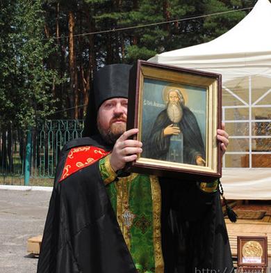 Встреча икон Преподобного Агапита Печерского и Великомученицы Варвары