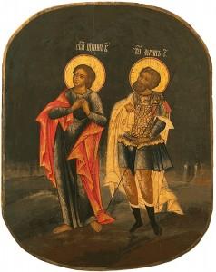 Апостол Иоанн Богослов и мученик Лонгин сотник