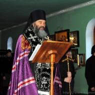 Чтение Канона Андрея Критского во главе с Епископом Агапитом