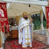 На праздничной Божественной литургии