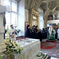 Панихида у гробницы Патриарха Алексия II