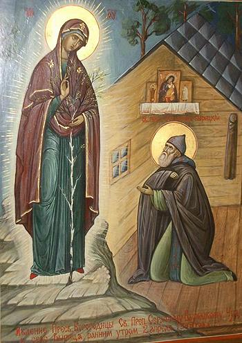Явление Богородицы Серафиму Вырицкому
