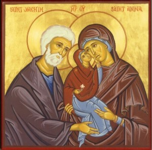 Иоаким и Анна с Пречистою Мариею