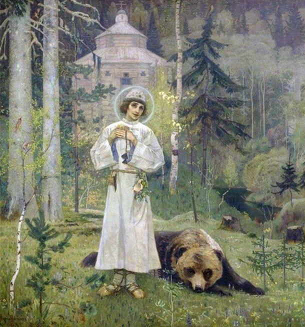 Юность Преподобного Сергия. Нестеров М.В.
