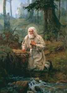 Молитвенный подвиг преподобного Серафима
