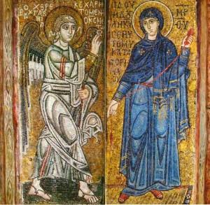 Благовещение Пресвятой Девы Марии. Собор Софии Киевской