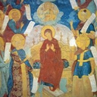 Похвала Богоматери. Фрески Софийского собра Вологды. 1686-1688 гг.