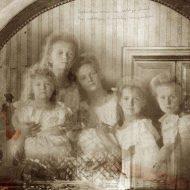 Страстотерпцы царь Николай II, царица Александра, царевич Алексий, великие княжны Ольга, Татиана, Мария и Анастасия