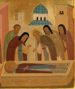 Икона «Обретение мощей преподобного Сергия»