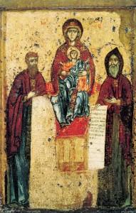 Богоматерь Свенская с предстоящими Антонием и Феодосием Печерскими