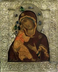 Владимирская икона Пресвятой Богородицы 16 v