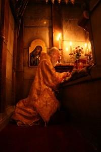 на литургии