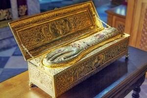 Мощи и образ Святого Георгия Победоносца прибыли из Афона в Россию