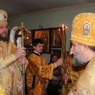 Вручение игуменского жезла архиереем
